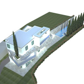 Vista 4 casa bianca dall'alto