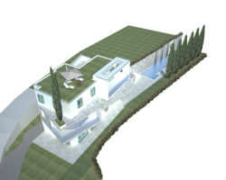 Vista 5 casa bianca dall'alto