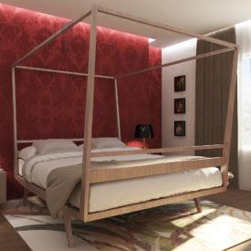 Modello camera matrimoniale moderno